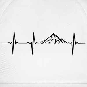 Heartbeat Mountains Camisetas - Gorra béisbol