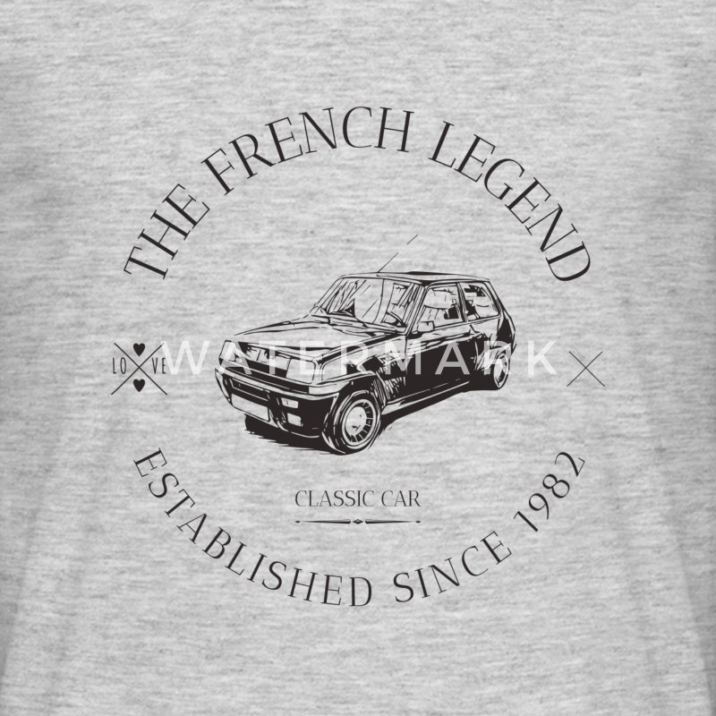 RENAULT R5 ALPINE TURBO FRENCH CAR Tee shirts - T-shirt Homme