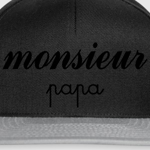 Monsieur Papa Tee shirts - Casquette snapback