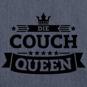 Die Couch-Queen T-Shirts - Schultertasche aus Recycling-Material