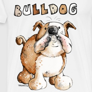 Sweet English Bulldog Cartoon  Aprons - Men's Premium T-Shirt