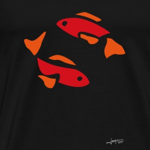 Poissons rouges By Joaquín - T-shirt Premium Homme