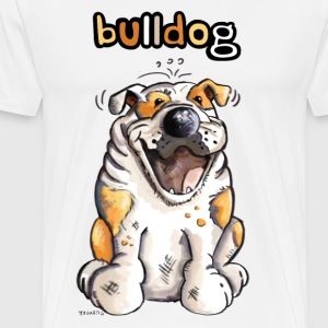 Happy English Bulldog Long sleeve shirts - Men's Premium T-Shirt