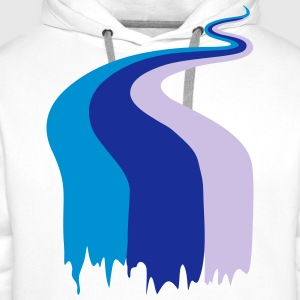river, stream, colors T-shirts - Herre Premium hættetrøje