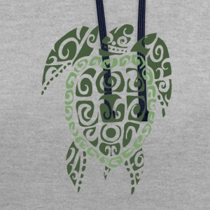 tortue maori - Sweat-shirt contraste