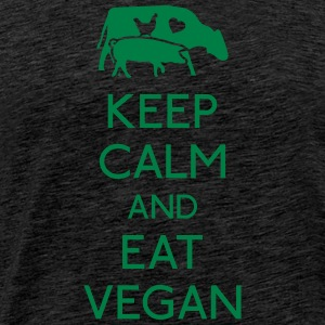 Keep Calm eat vegan garder calme manger végétalien Sweat-shirts - T-shirt Premium Homme