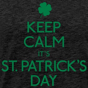 keep calm st. patricks day Hoodies & Sweatshirts - Men's Premium T-Shirt