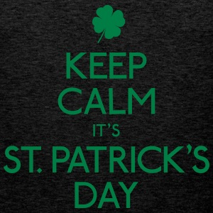 keep calm st. patricks day houden kalm st. patricks dag Sweaters - Mannen Premium tank top