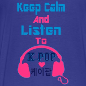♥♫Keep Calm&Listen to KPop Kid's Fab Hoodie♪♥ - Men's Premium T-Shirt