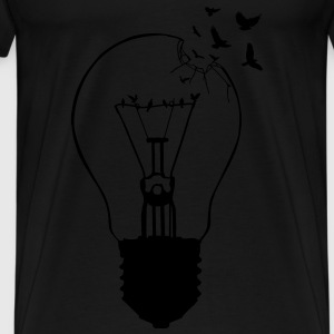 Outlaw, breaking out of the old light bulb  Aprons - Men's Premium T-Shirt