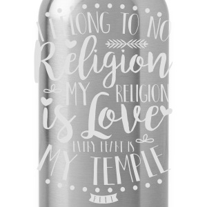 I belong to no religion. - Trinkflasche
