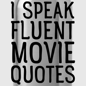 I Speak Fluent Movie Quotes T-skjorter - Drikkeflaske