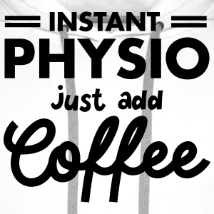 Instant Physio - Just Add Coffee Koszulki - Bluza męska Premium z kapturem