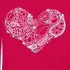 White Leaf Heart Mandala - Kids' Premium Longsleeve Shirt