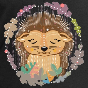 little cute hedgehog in hibernation - Men's Sweatshirt by Stanley & Stella