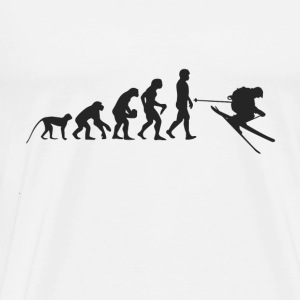 Ski Evolution Sweatshirts - Herre premium T-shirt
