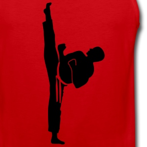 karate kick T-Shirts - Men's Premium Tank Top