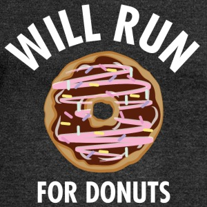 Will Run For Donuts T-Shirts - Women's Boat Neck Long Sleeve Top