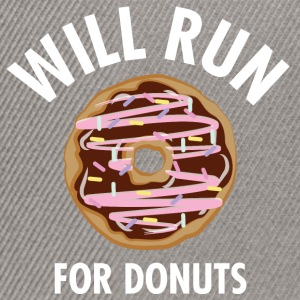 Will Run For Donuts T-Shirts - Snapback Cap
