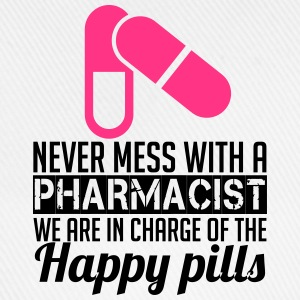 Never mess with a pharmacist T-shirts - Baseballkasket