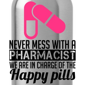 Never mess with a pharmacist T-shirts - Drikkeflaske