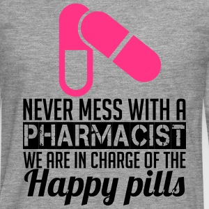 Never mess with a pharmacist T-shirts - Herre premium T-shirt med lange ærmer