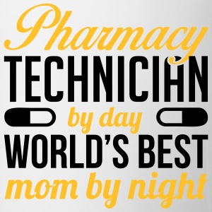 Pharmacy technician by day. Best mom by night T-shirts - Kop/krus