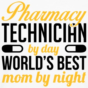 Pharmacy technician by day. Best mom by night T-shirts - Herre premium T-shirt med lange ærmer