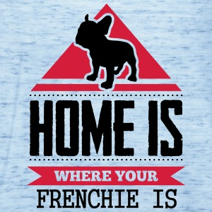home is where your frenchi is T-shirts - Vrouwen tank top van Bella