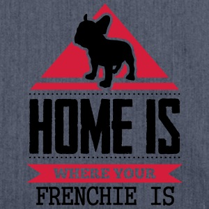 home is where your frenchi is T-shirts - Axelväska av återvinningsmaterial
