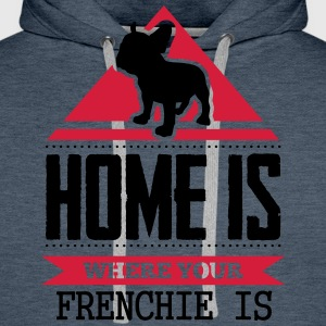 home is where your frenchi is Magliette - Felpa con cappuccio premium da uomo