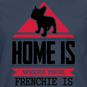 home is where your frenchi is T-shirts - Mannen Premium shirt met lange mouwen