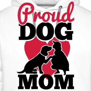 proud dog mom Tee shirts - Sweat-shirt à capuche Premium pour hommes