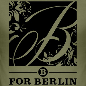 B for Berlin. Pink Flower - Kissen - Männer Slim Fit T-Shirt
