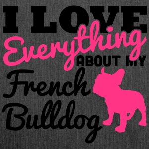 I Love Everything About My French Bulldog T-shirts - Skuldertaske af recycling-material