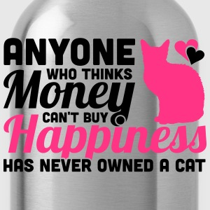 Buy Happiness - Own a cat Magliette - Borraccia