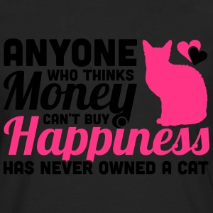 Buy Happiness - Own a cat T-shirts - Herre premium T-shirt med lange ærmer
