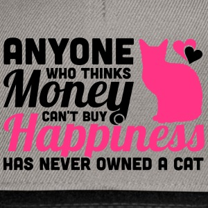 Buy Happiness - Own a cat T-shirts - Snapback cap