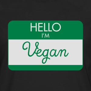 Hello I'M Vegan T-Shirts - Men's Premium Longsleeve Shirt
