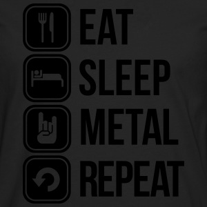 eat sleep metal repeat T-Shirts - Männer Premium Langarmshirt