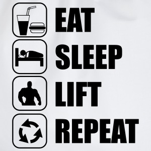 Eat,sleep,lift,repeat, Sport T-shirt - Drawstring Bag