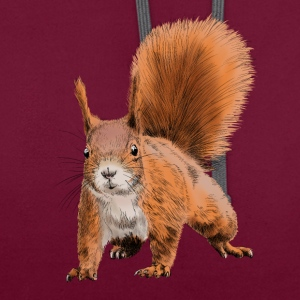 squirrel T-shirts - Contrast hoodie