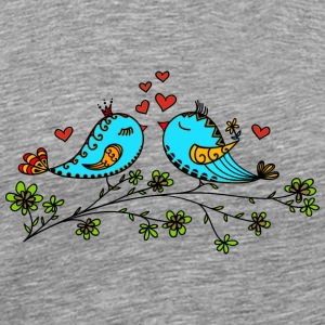 Birds in love hearts, Valentines day, birdie, cute Overig - Mannen Premium T-shirt