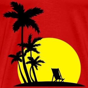 Paradise - Palm trees and sunset Toppe - Herre premium T-shirt