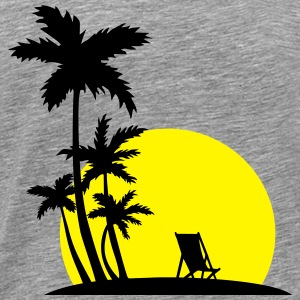 Paradise - Palm trees and sunset Long sleeve shirts - Men's Premium T-Shirt