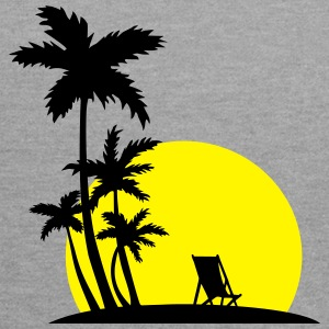 Paradise - Palm trees and sunset T-Shirts - Contrast Colour Hoodie