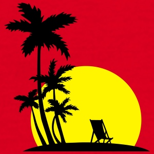 Paradise - Palm trees and sunset Muggar & tillbehör - T-shirt herr