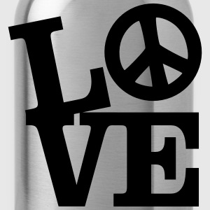Love - Peace T-Shirts - Water Bottle