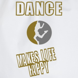 dance makes life happy (redesigned) T-Shirts - Turnbeutel