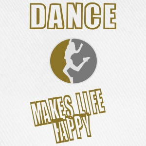 dance makes life happy (redesigned) T-Shirts - Baseballkappe